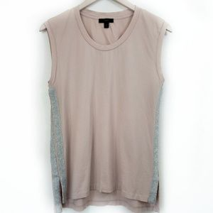 J. Crew Blush Muscle Tee Shirt Metallic Stripe